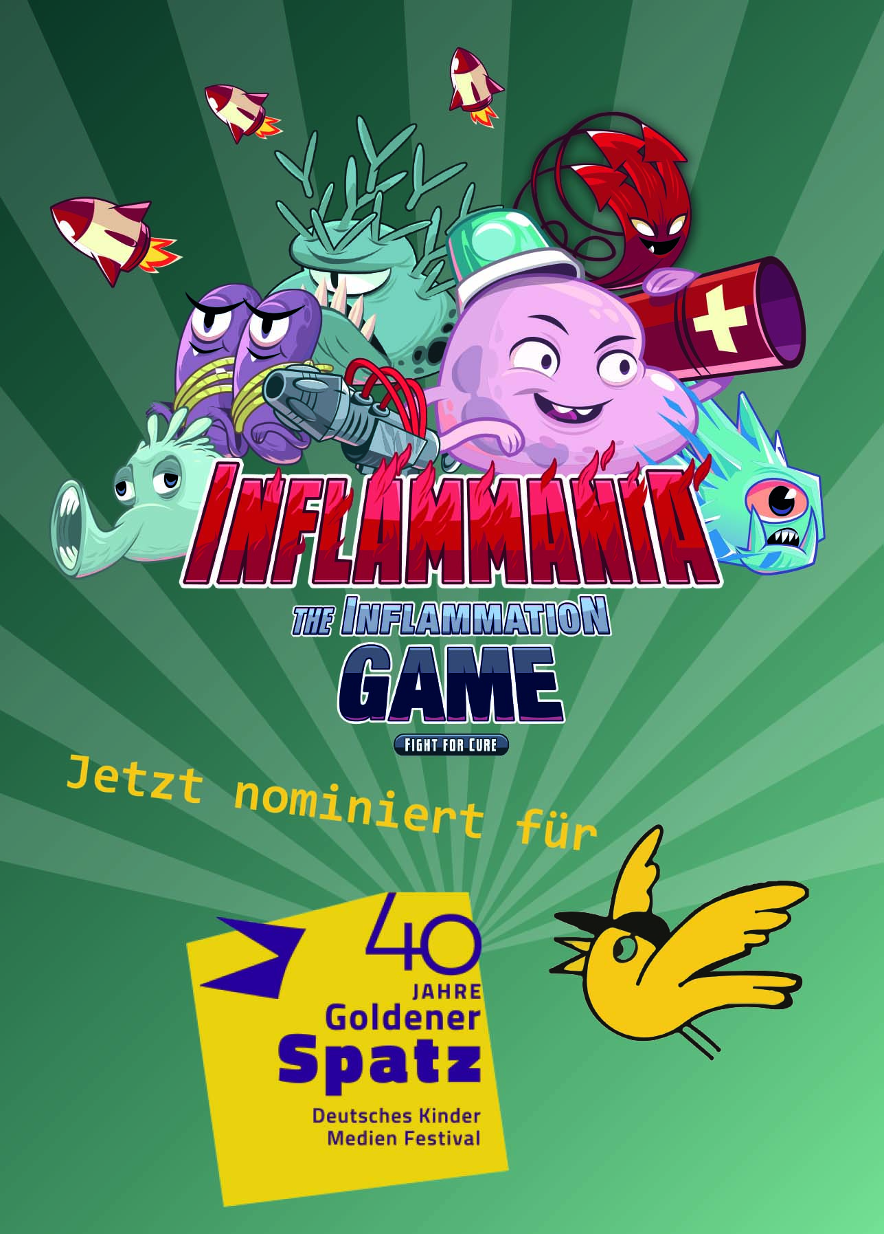 "Towards entry ""The Inflammation Game is nominated for the German Children Media Award"""